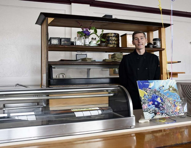 Sushi chef Josh Hand is back behind the counter at Tomo Japanese Restaurant. - JENNIFER FUMIKO CAHILL