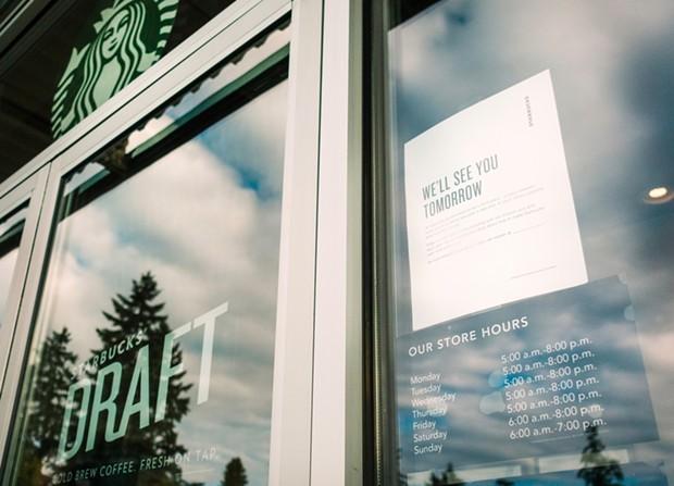Four Humboldt County Starbucks are closing Tuesday for racial-sensitivity training. - STARBUCKS