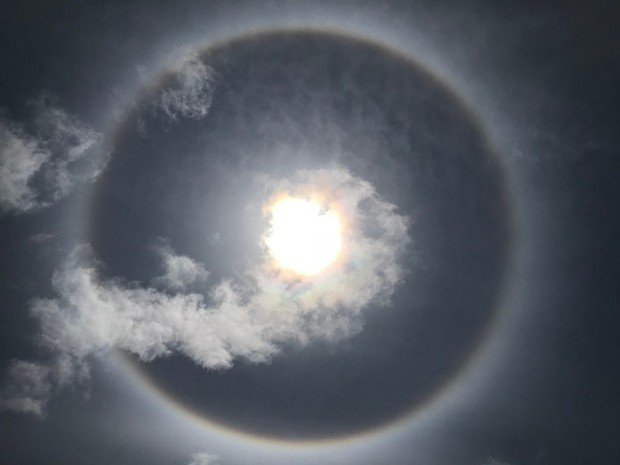A solar halo put on a show in Fortuna. - COURTESY OF LEE ANN WALSTROM