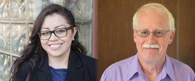 Karen Paz Dominguez (left) and Mike Lorig - SUBMITTED
