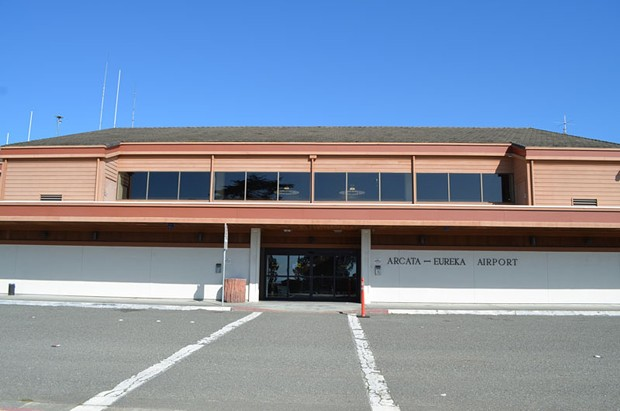 Ignore that sign. This is the California Redwood Coast – Humboldt County Airport. - FILE