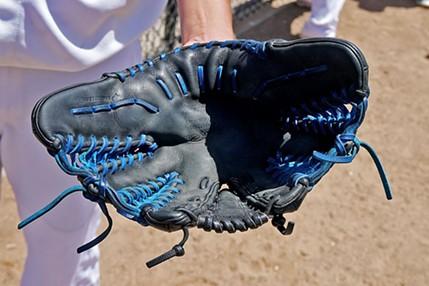 Alex Trautner's ambidextrous glove. - MATT FILAR