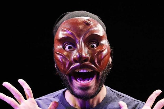 Pratik Motwani in the mask as Ruzzante. - PHOTO BY TUSHAR MATHEW
