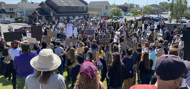 George Floyd, Black Lives Matter Protest in Arcata (VIDEO)