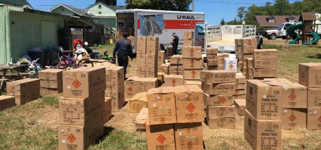 More Than 10K Pounds of 'Dangerous Fireworks' Seized in Eureka