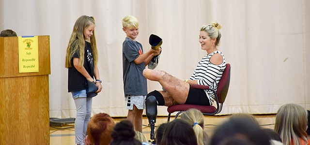 Freshwater Native, Triple Amputee Inspires Students