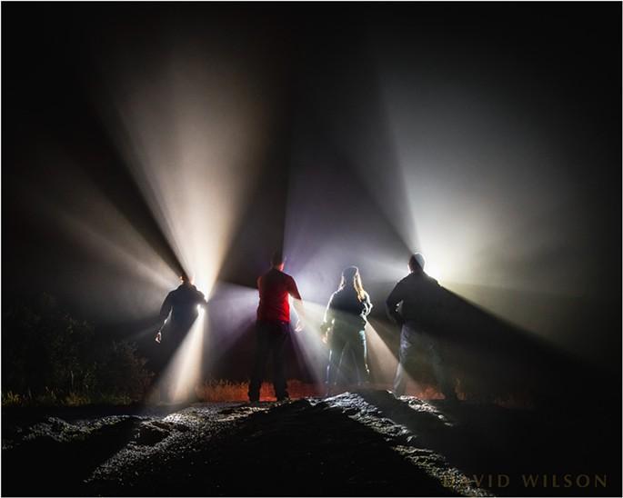 Night Lights in the Fog
