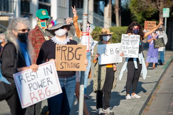 Vigil for Ruth Bader Ginsburg