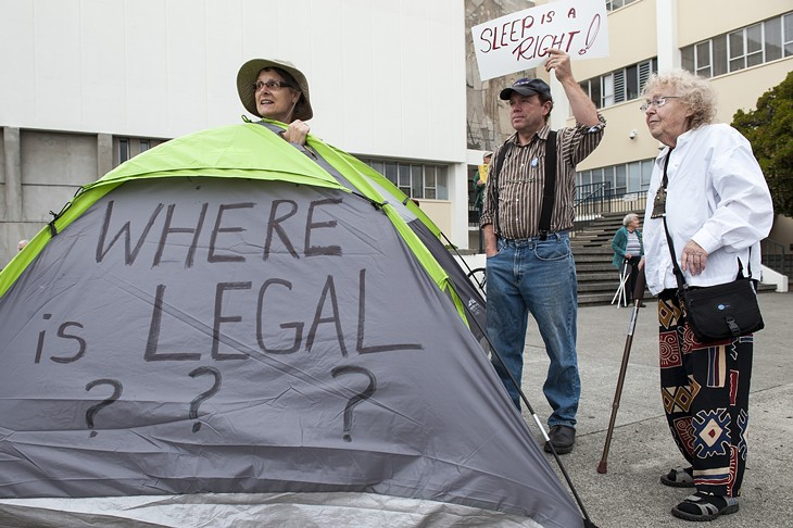 'Right to Sleep' Protest 2015