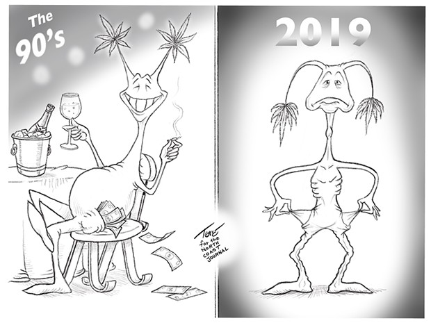 Weed's 10 Year Challenge