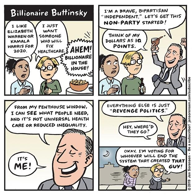 Billionaire Buttinsky