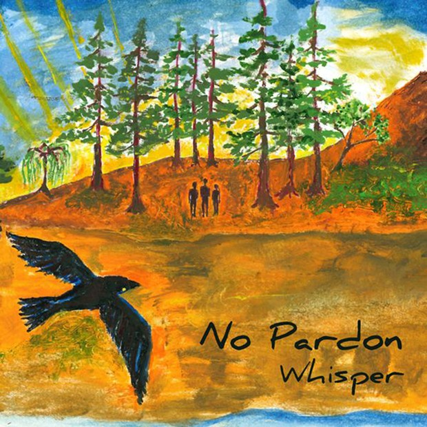 Rosalind Parducci's painting on cover of Whisper by local band No Pardon.
