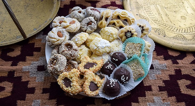 Sweet, fragrant Moroccan tea cookies.