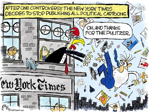 No More Political Cartoons