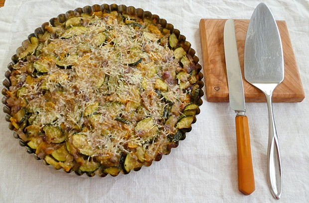 The abundance of summer zucchini is the perfect excuse for a delicious tart.