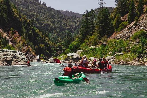 Floating from Willow Creek to Tish Tang Campground with 6 Rivers Rafting.