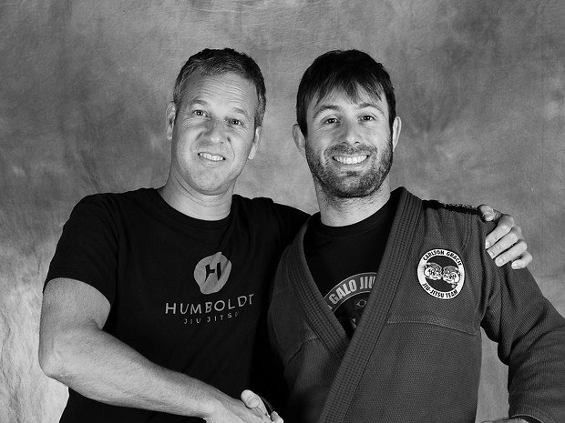 Marcello Daflon and Monty Martin of Humboldt Jiu Jitsu.
