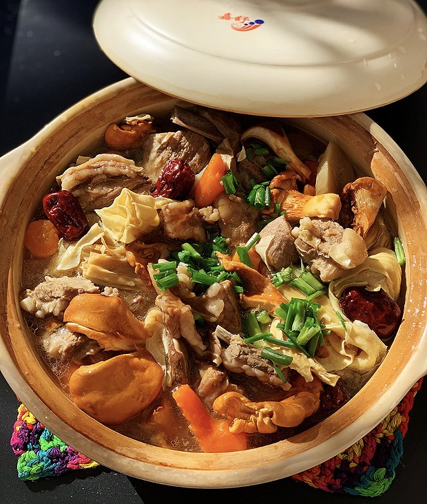A hearty one-pot meal of lamb and wild mushrooms for fall evenings.