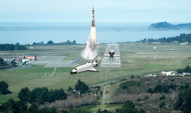 Artist's rendering of a possible Humboldt spaceport.