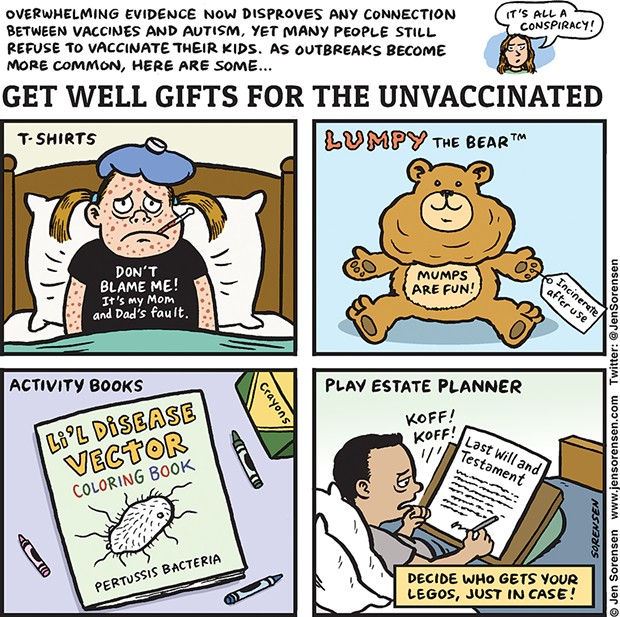 Get well gifts for the unvaccinated.