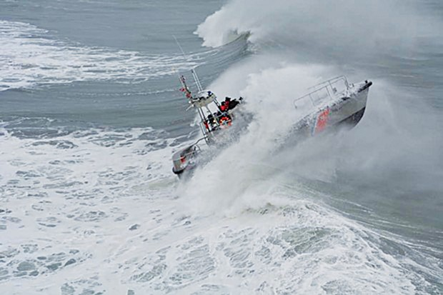 Coast Guard Sector Humboldt Bay crews took advantage of the high surf to train.