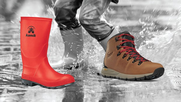 Left: Kamik Kids STOMP at Pacific Outfitters. Right: Danner MT600 at Picky Picky Picky.