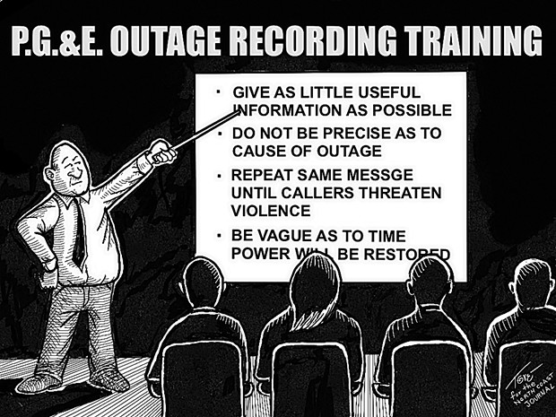 P.G.& E. Outage Recording Training