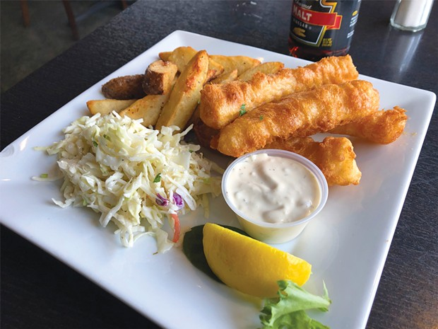 Jack's rock cod fish and chips from right next door.