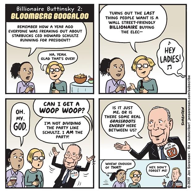 Billionaire Buttinsky 2: Bloomberg Boogaloo
