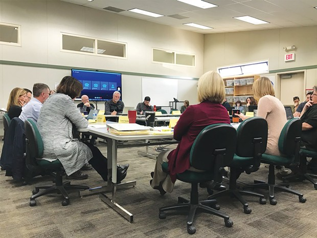 The North Coast Schools Medical Insurance Group board meeting on Feb. 19 discussing possible changes.