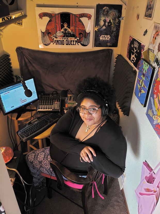 Sabina Gallier in her DIY home studio.
