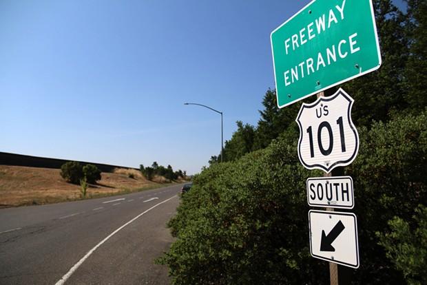 U.S. Highway 101 near Cloverdale.