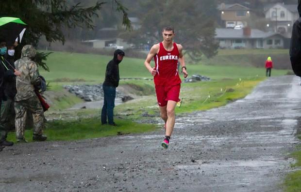 Eureka High School cross country runner Ian Bennett.