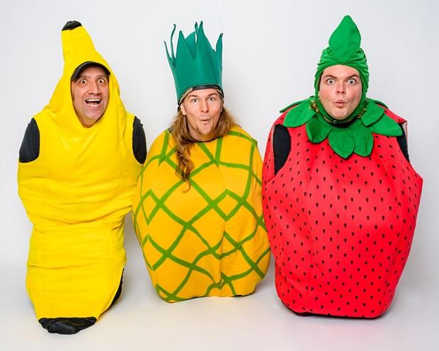 trio from left: Sweet N Juicy