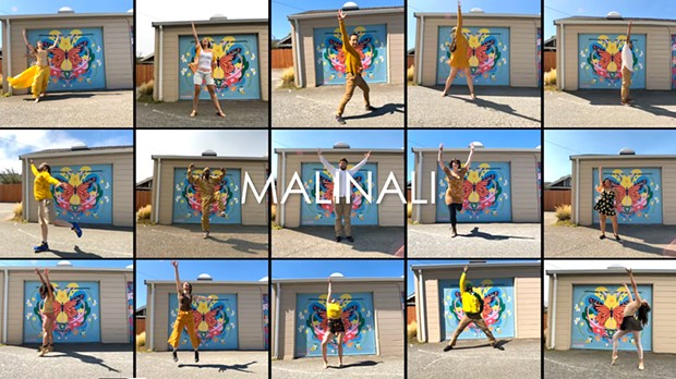 """Screenshot from """"MALINALI,"""" a collaborative dance video project headed by Jose Moreno and Cleo DeOrio."""
