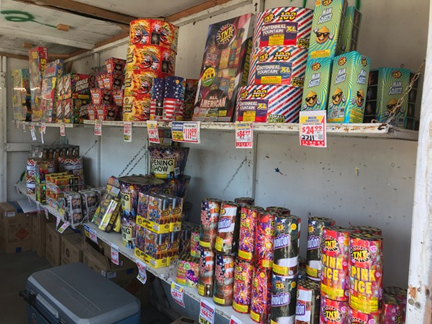 """The only fireworks allowed in Humboldt County are """"safe and sane"""" labeled fireworks that can be found at local stands."""