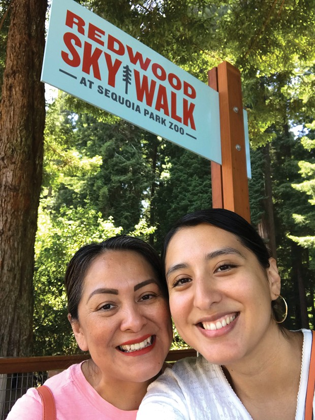 Me and my fully vaccinated mom on a recent trip to the Sequoia Park Zoo.