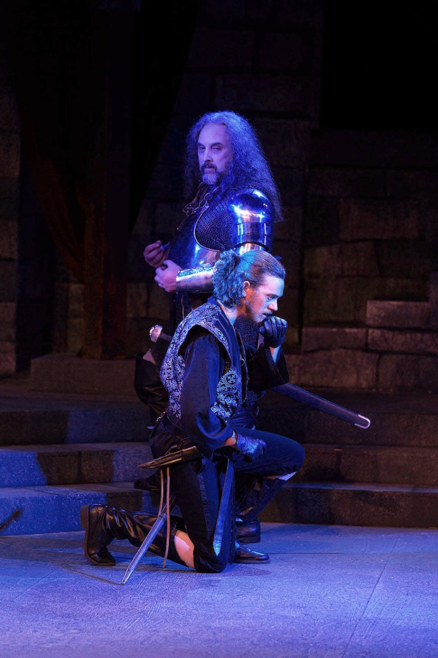 Abraham Greene and Jordan Keith Dobbins in Hamlet.