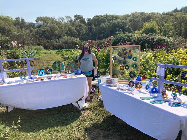 Colleen Clifford Stained Glass at Redwood Roots Farm at the 2020 Bayside Makers Fair