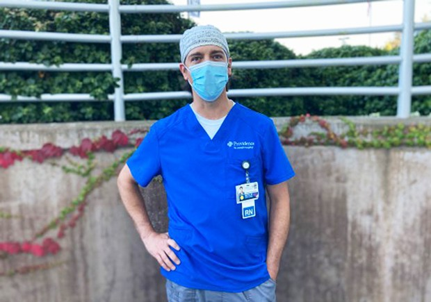 Matt Miele, a trauma nurse, is looking for a less stressful position after 18 months of fighting COVID in Eureka.