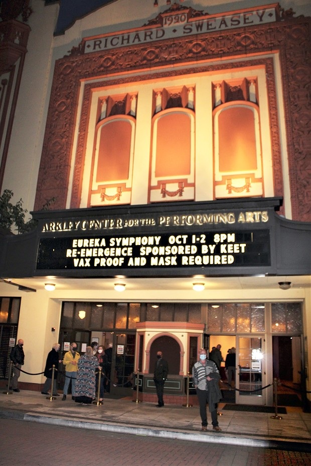 The marquee lit once again for the Eureka Symphony.