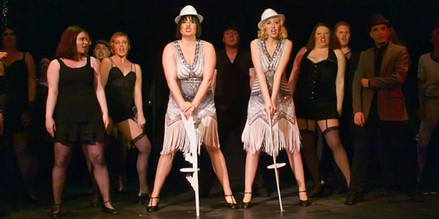Alexandra Blouin and Jessica Kaufman take center stage as bad girls in Chicago.