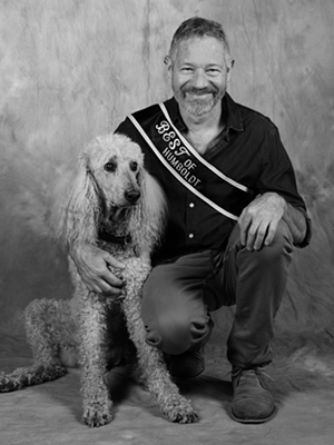 Owner Dante DiGenova and Max. - MARK MCKENNA