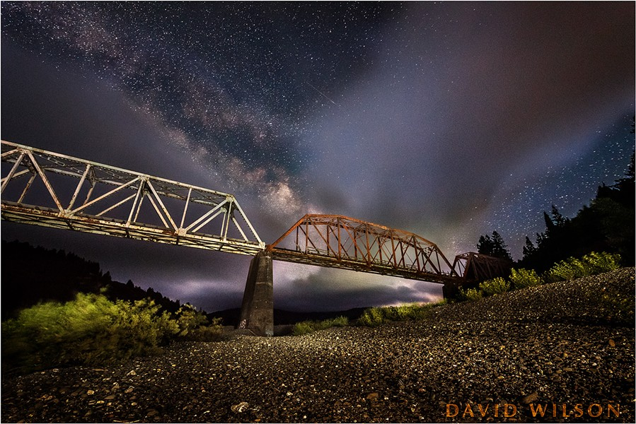 A variation in lighting on the bridge from the first night out, before the clouds overcame us. - DAVID WILSON