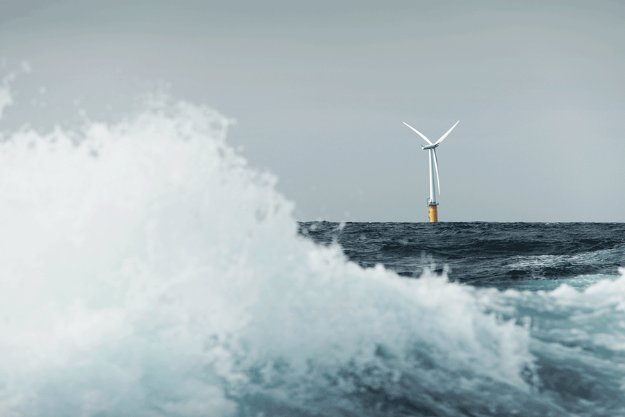 Hywind floating turbine demo off the coast of Karmøy, Norway. - COURTESY OF STATOIL