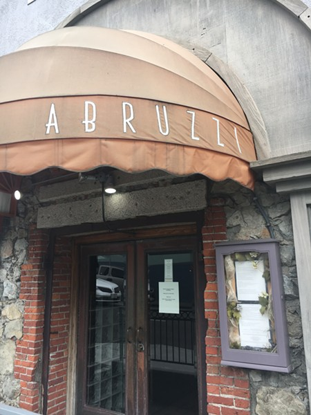 With its kitchen under renovation, Abruzzi relaunches as a jazz lounge, for now. - PHOTO BY JENNIFER FUMIKO CAHILL