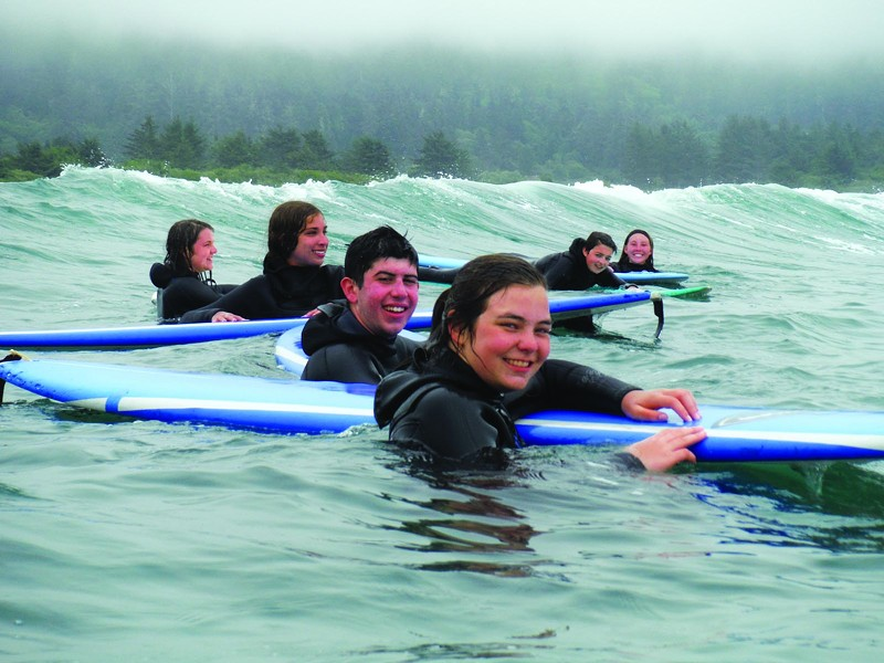 Surfing with Center Activities / Courtesy of Humbolst State University's Center Activities