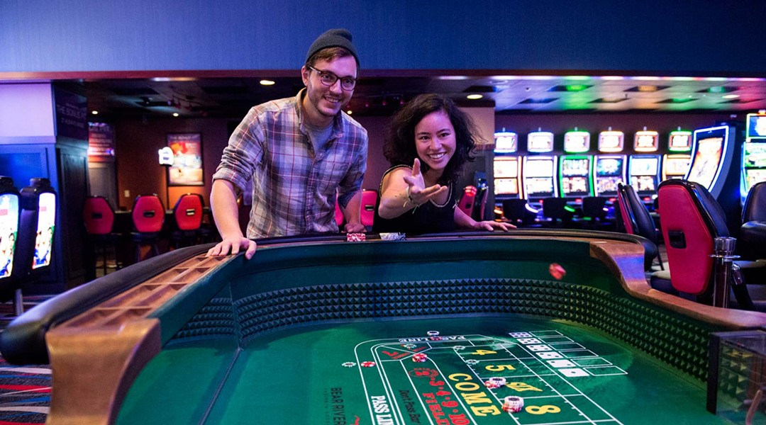Rolling the dice at Bear River Hotel and Casino. - MARK MCKENNA