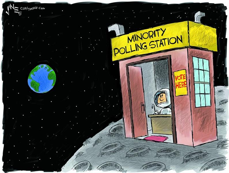 Minority Polling Station - CLAY JONES