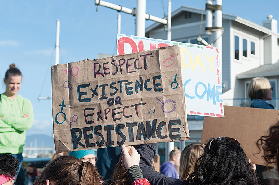 Eureka Women's March - PHOTO BY MARK MCKENNA